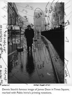 Marked up photograph of James Dean by Pablo Inirio, the master darkroom printer who works at Magnum Photos. Magnum Photos, Film Photography, White Photography, Street Photography, Fashion Photography, Wedding Photography, Landscape Photography, Nature Photography, Travel Photography