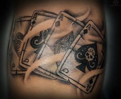 Bet on these 10 Playing Card Tattoos