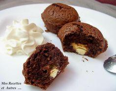 Muffins au Chocolat Cœur de Chocolat Blanc