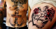 10 Awesome Old School Anchor Tattoos