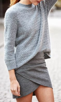 I want pretty: LOOK-Outfits monocromáticos en gris/ Gray monochromatic outfits!