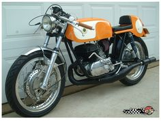 The OSSA Sport GT street bike was built around and from a 1972 OSSA Stiletto Motocross bike.
