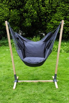 hammock chair stands diy red chaise lounge 18 best images stand ideas noa hanging made of hardwood brazilian teak with newline in the colour anthracite