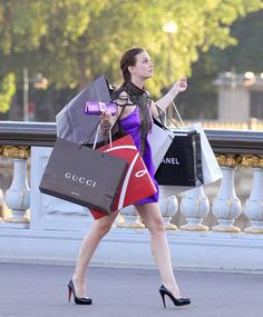 I hate days like this when I'm left alone to shop in Paris. I have to carry all of my new designer goodies myself!