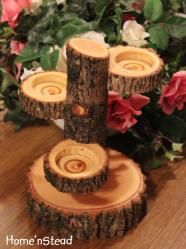 """^INSPIRATION...Measures approx: 8"""" tall and stands securely on a 5"""" round base. Each candle cup is approx. 2.5"""" in diameter"""
