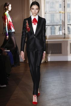 Doing business and dodging bulls in Schiaparelli. Spring 2017 Couture Fashion Show