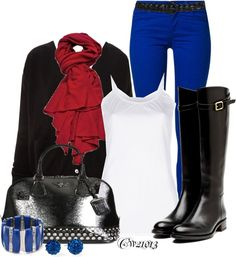 """My gear for....Texas weather today"" by cw21013 ❤ liked on Polyvore"