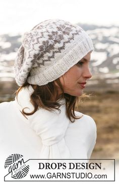 Try out some pretty fair isle work in this super cute DROPS Karisma hat. DROPS 116-45
