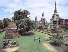 Town and former capital of the Tai state of Ayutthaya (Siam) located in central Thailand, about 55 miles (89 km) north of Bangkok. The site of immense temples and other structures...