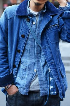 Double denim! #Blue