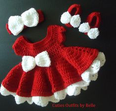 Crochet Baby Dress, Take Home Baby Outfit, Coming Home Dress, Infant Outfits, Crochet Newborn Outfit, Photo Prop Outfit, Infant Christmas
