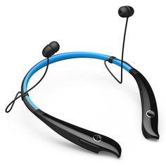 Amazon.com: BlueFit New Silicon Neckband Sport Bluetooth Hands-free Headphone HV Headset with Aptx, Wireless Stereo Earphones Earbuds with High Fidelity Sound Quality, Noise and Echo Cancelling, Comfort Wearing, Voice Guidance for Workout /Running /Walking Compatible with iPhone 6 6 Plus 5 5s 4 4s , Samsung Galaxy S6 S5 S4 Note 3 4 and Other Smart Phones(Blue): Electronics