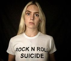 rock n roll suicide Tshirt - David Bowie. *This T-shirt is hand painted and heat fixed before shipped to ensure the design lasts.  *This is a unisex T-shirt and is available in sizes XXS - 5XL and a variation of colours.  *All designs are can also be made as: •Tshirt •Long sleeve •Raglan / baseball or ringer Tshirt •Polo shirt •Sweatshirt •Hoody  *Measurements*  Size- S M L XL 2XL 3XL 4XL 5XL Chest To Fit (ins)- 35-37 38-40 41-43 44-46 47-49 50-52 53-55 56-58  https://www.etsy....