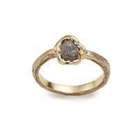 ROUGH DIAMOND SOLITAIRE RING UncommonGoods