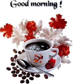 Coffee The Effective Pictures We Offer You About jungkook GIF A quality picture can tell you many things. You can find the most beautiful pictures that can be presented to you about GIF wallpaper in t Good Morning Wishes Gif, Good Morning Gift, Good Morning Love Gif, Good Morning Coffee Gif, Good Morning Angel, Good Morning Beautiful Images, Morning Greetings Quotes, Good Morning Flowers, Good Morning Messages