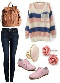 cute teen outfits for fall-winter school 2014 01 #outfit #style #fashion