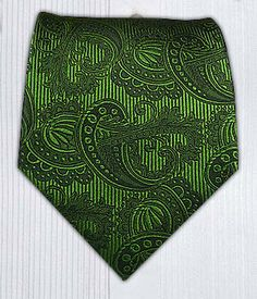 Twill Paisley - Clover Green || Ties - Wear Your Good Tie. Every Day - Twill Paisley - Clover Green Ties