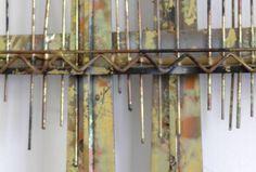 gold black golden gate bridge metal wall art posts ny usa and metal walls. Black Bedroom Furniture Sets. Home Design Ideas