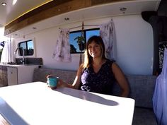50899e75ad Woman converts van into stylish all-terrain home   office on wheels (Video)