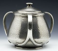 TUDRIC FOR LIBERTY ART NOUVEAU PEWTER TOBACCO JAR BY ARCHIBALD KNOX c.1900
