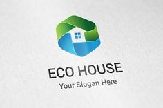 Eco House Logo Templates Professional eco house logo for companies or personal use.- The logo is 100 resizable.- You can by aykutfiliz Binder Templates, Logo Templates, Business Brochure, Business Card Logo, Logo Inspiration, Newsletter Design, Branding, Home Logo, Book Design