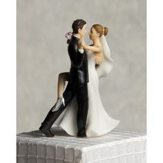 """Super Sexy Dancing"" Wedding Bride and Groom Cake Topper Figurine,"