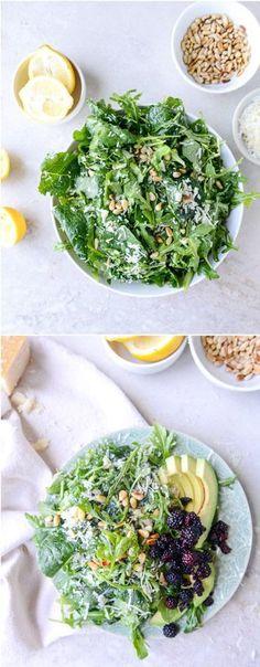 Arugula Kale Reggiano Salad I howsweeteats.com
