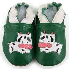 Moo Cow Soft Sole Leather Baby Shoes For my Cousin!
