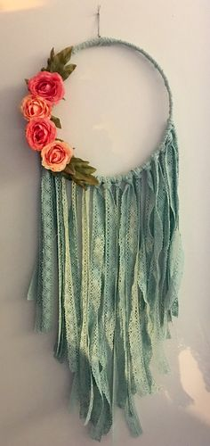 Boho wedding dreamcatcher. Flower decorations. by Gypsydaydream