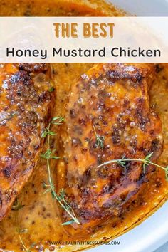 This Juicy and tender Honey Mustard Chicken breast recipe is easy to make and full of flavor. A quick and healthy chicken recipe to serve your family for lunch or dinner with perfectly balanced flavors. A decadent meal that everyone will love. #chickenbreast #chickenrecipe #mustardchicken #honeychicken via @healthyfitnessmeals Easy Baked Chicken, Baked Chicken Breast, Low Carb Chicken Recipes, Healthy Recipes, Healthy Meals, Honey Mustard Chicken, Breast Recipe, Stuffed Peppers, Dinner Recipes