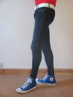 H&M Superskinny Superlow Skinny Jeans Style, Super Skinny Jeans, Superenge Jeans, Outfits With Converse, Chuck Taylors, Tights, Menswear, Boys, Clothes