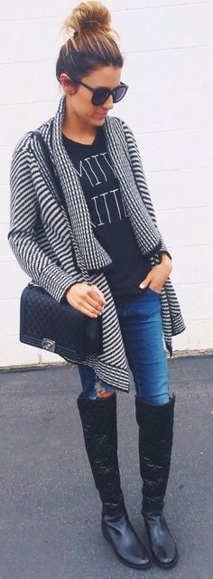winter fashion houndstooth