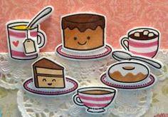 Happy Birthday card lawn fawn cake cups