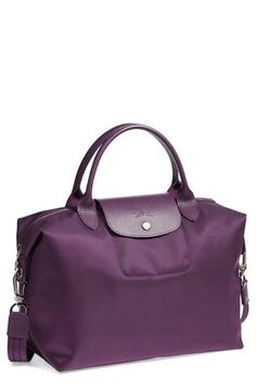 Free shipping and returns on Longchamp 'Le Pliage Neo - Medium' Tote at Nordstrom.com. Lightly textured leather borders a sleek, classic tote that folds flat when not in use, making it perfect for travel.