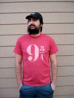 Harry Potter 9 3/4 Bleached Tshirt by DanasJumble on Etsy, $20.00