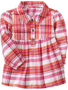 Pleated Plaid Tops for Baby | Old Navy