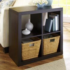 Position our Cube Organizer next to an armchair or sofa for a handy storage spot that doubles as an end table.