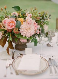 Summer flowers: http://www.stylemepretty.com/2015/03/05/dreamy-summer-garden-afternoon-wedding/   Photography: Megan Sorel - http://megansorel.com/