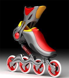 Coil-over suspensions for inline skates. My rollerskates used a little key to tighten them over my shoes. Cool Technology, Technology Gadgets, Tech Gadgets, Cool Gadgets, Amazon Gadgets, Technology Innovations, Futuristic Technology, Medical Technology, Energy Technology