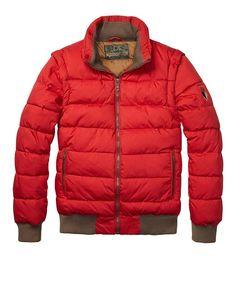 Basic Down Jacket With Detachable Sleeves - Scotch & Soda
