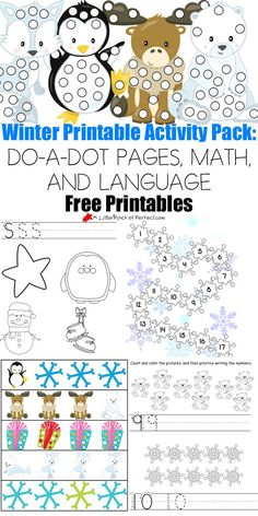 FREE 30 Page Winter Printables Pack