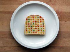 Art on bread is great.