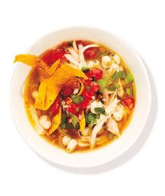 Spicy Chicken and Hominy Soup recipe