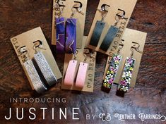 The new Justine by CB Leather Earrings! Light weight, nickel free leather jewelry.