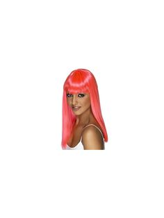 Express your girly side and pink-ify yourself to the greatest extent you can with this neon pink wig.