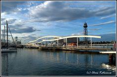Travel in Clicks: Rambla del mar , Barcelona Barcelona, Opera House, Clouds, City, Building, Travel, Del Mar, Viajes, Buildings