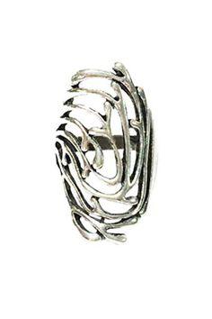 Openwork Ring - Antique Silver - Arrow Trends