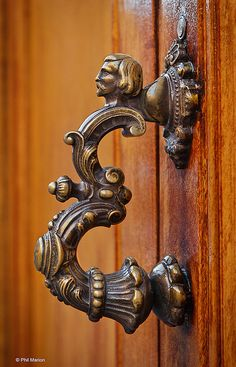 Exquisite door handle - San Miguel de Allende. Mexico by Phil Marion, via Flickr