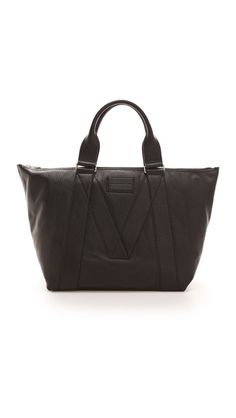Sleek and functional: Marc by Marc Jacobs M Standard Supply Leather E/W Carryall