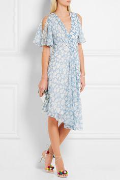 Topshop Unique | Balfour printed silk-georgette and crepe de chine dress | NET-A-PORTER.COM